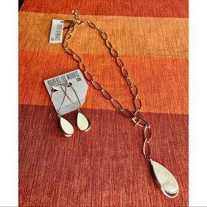 Robert Lee Morris Gold &Shell Teardrop Jewelry Set
